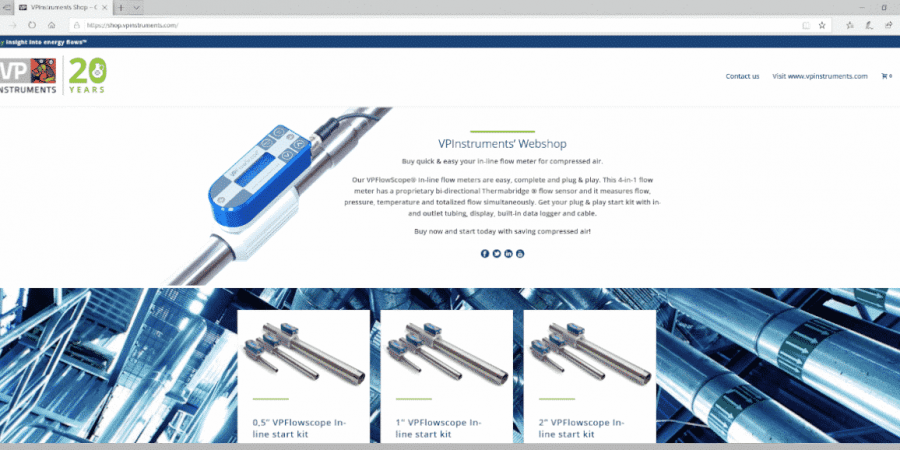 VPInstruments webshop - order your instrumentation online